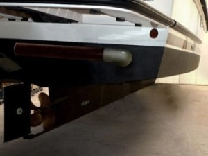 Transom Mount RotorSwing retracted