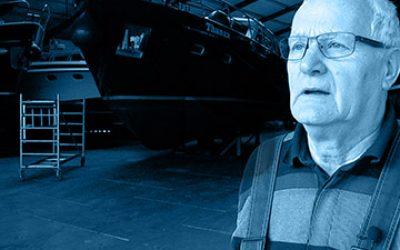 Herr Pasterkamp, Inhaber von Zuiderzee Yachting
