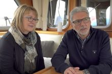 Mr & Mrs Ineichen, owners MY Meander