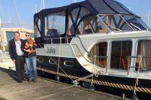Mr and Mrs Siebel, owners MY Julia