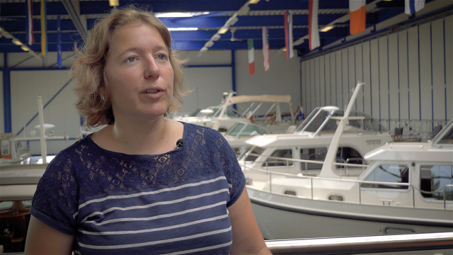 Yvonne Linssen, Inhaberin von Linssen Yachts