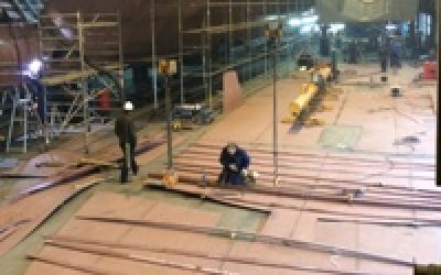Keel of 37m Yacht laid