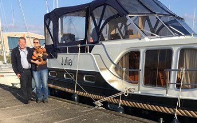 Herr und Frau Siebel, Eigner der MY Julia
